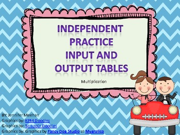 Input and Output Table Practice-Multiplication--Common Core Aligned 4.OA.5