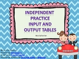 Input and Output Table Practice-Multiplication--Common Cor