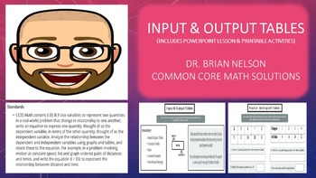 Input and Output Tables (Includes PowerPoint Lesson with P
