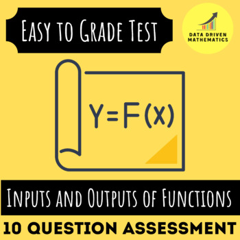 Inputs and Outputs of Functions Easy Grading Paper Quiz - 10 Question Assessment