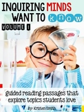 Inquiring Minds Want To Know- A Guided Reading Resource
