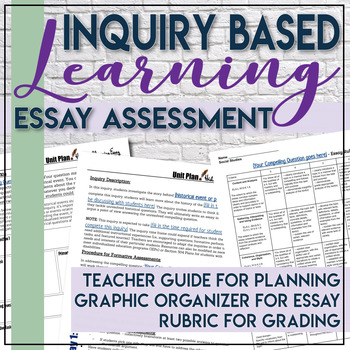 Inquiry Based Essay Graphic Organizer Social Studies C3 Framework with Rubric