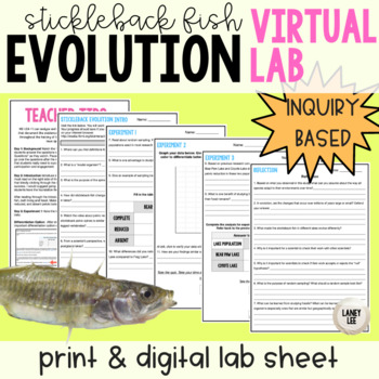 Inquiry Based Evolution Virtual Lab and Quiz - NGSS Aligned