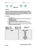 Inquiry Based Flame Test Worksheet