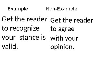 Inquiry Based Introduction to Argument Writing with Concept Attainment Strategy