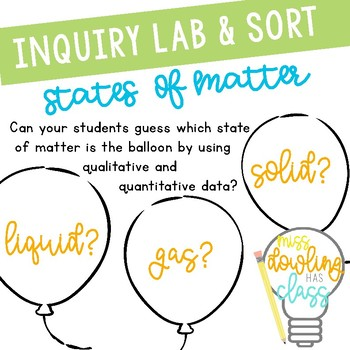 Inquiry Based Learning Lab: States of Matter Balloons