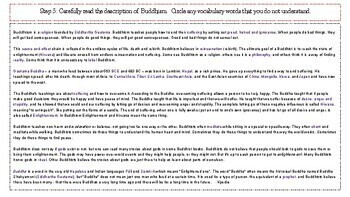 Inquiry Based Learning Lessons for Social Studies: Buddhism