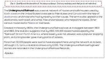 Inquiry Based Learning Lessons for Social Studies:  The Underground Railroad