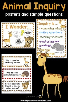 Inquiry Based Learning Projects - Animals Project With Sample Inquiry Questions
