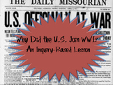 Inquiry-Based Lesson: Why Did the United States Enter World War I?