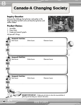 Inquiry Based Literacy Learning - History Content Grade 8