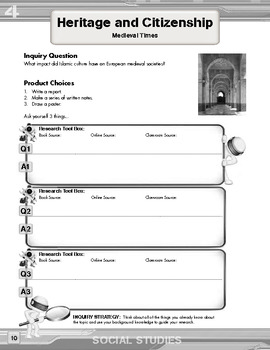 Inquiry Based Literacy Learning - Social Studies Content Grade 4