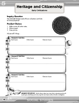 Inquiry Based Literacy Learning - Social Studies Content Grade 5