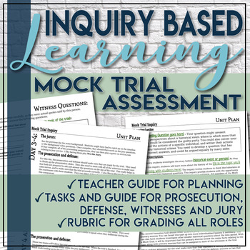 Inquiry Based Mock Trial Template Social Studies C3 Framework with Rubric