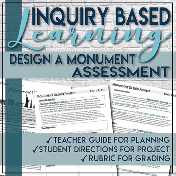 Inquiry Based Monument Design Project Template Social Studies C3 Framework