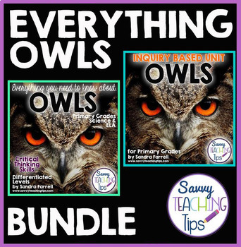 Inquiry Based Research EVERYTHING OWLS BUNDLE