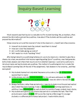 Inquiry-Based Research Task