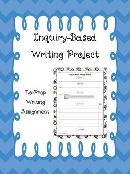 Inquiry-Based Writing No-Prep