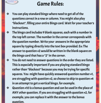 Inquiry Bingo: Fall Theme