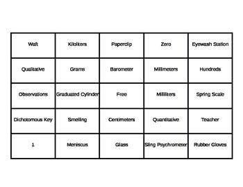 Inquiry Bingo Review