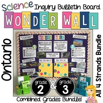 Inquiry Board COMBINED Grade 2 & 3 Ontario Science BUNDLE Wonder Wall Boards