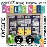Inquiry Board COMBINED Grade 2 & 3 Ontario Science BUNDLE Wonder Wall Boards