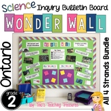 Inquiry Bulletin Board | Grade 2 Ontario Science BUNDLE | Wonder Wall |
