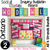 Inquiry Bulletin Board | Grade 2 Ontario Social Studies BUNDLE | Wonder Wall |