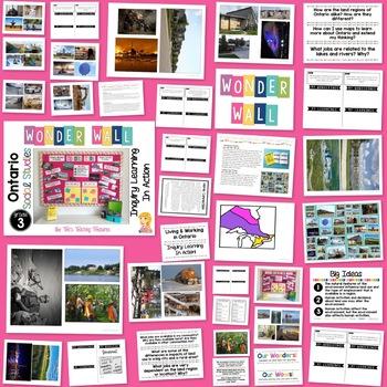 Inquiry Bulletin Board   Grade 3 Ontario Social Studies BUNDLE   Wonder Wall  