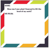 Inquiry Conference Sticky Notes for Teachers & Students