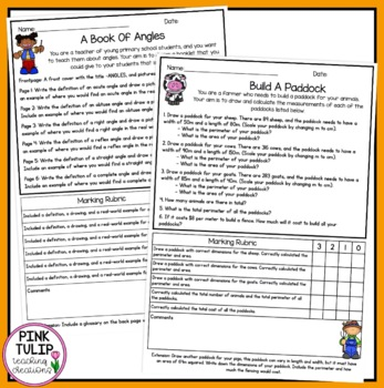 Inquiry Cross Curriculum Math Assignments/Projects - 3 to 5
