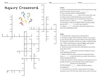 Inquiry Crossword and Word Search