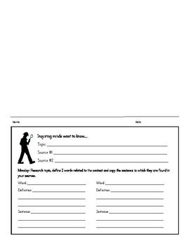 Inquiry Homework