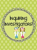 Inquiry Investigators: Science Centers to promote inquiry and thinking