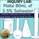 Inquiry Lab: Create 80 mL of 3.5% Saltwater Great for Mari