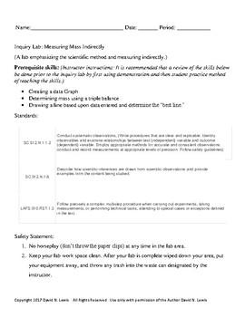 Inquiry Lab: Measuring Mass Indirectly