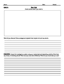 Inquiry Lab Report Form