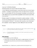 Inquiry Lab: The Wild Bean Population