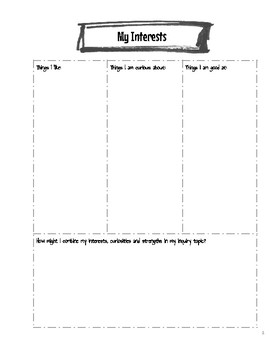 Inquiry Notebook for Guided Inquiry, Genius Hour, Passion Projects or 20% Time