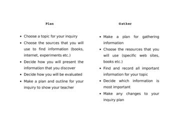 Inquiry Outline
