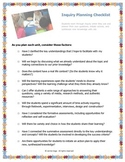Inquiry Planning Checklist for PreK-12 Teachers