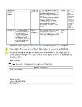 Inquiry Portfolio/ Binder Template