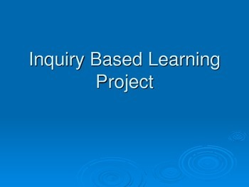 Inquiry Project Outline