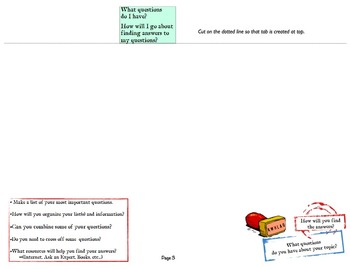 Inquiry Research Booklet with Tabs Using KWHLAQ