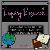 Inquiry Research Planning Pages -- Inquiry Based Learning