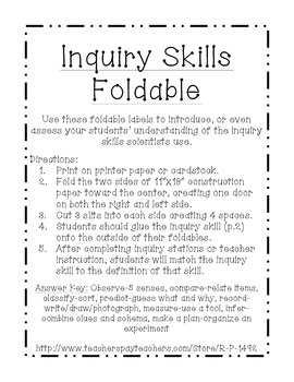 Inquiry Skills Foldable