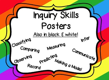 Inquiry Skills Posters