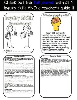 Inquiry Skills Science Journal FREEBIE