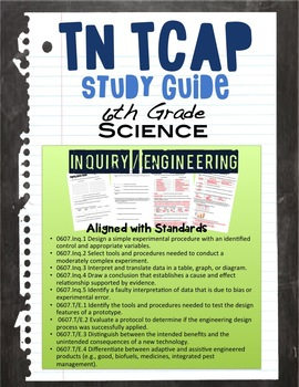 Inquiry / Technology & Engineering Study Guide for 6th Grade TN TCAP