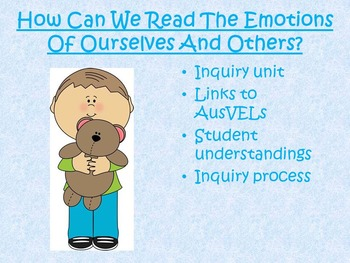 Inquiry Unit - How can we read the emotions of ourselves a